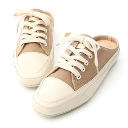 隨性有型.小方頭帆布休閒穆勒鞋