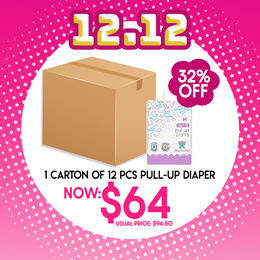 [PKP Carton Launch Sales] 1 Carton of 12pcs Travel pack Pull up pants|New Packaging|Free Shipping