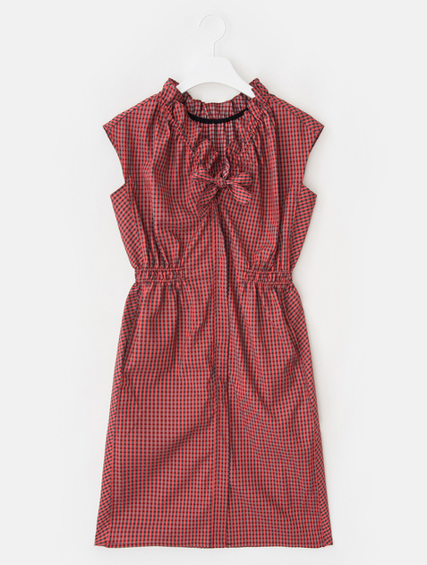 8SECONDS Gingham Check Frill Midi Dress - Red