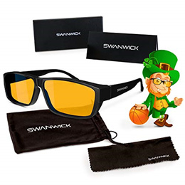 ▶$1 Shop Coupon◀  Swanwick Sleep Fitover Blue Light Blocking Glasses and Computer Eyewear - Wear OVE