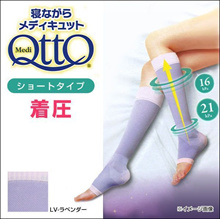 Dr. Scholl 'Medi Qtto  Short Open Toe Compression Socks (For Sleeping、 Made in Japan)(A99600483)