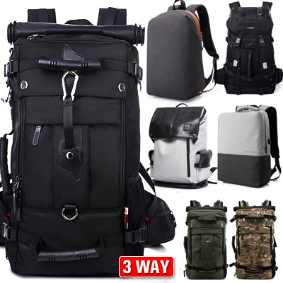 637f22d2f8 High Quality Men Backpacks Canvas Bag High Capacity 3 Way Backpack  Messenger Bag School Bag