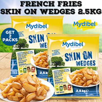 BUY 1 GET 1 FREE **Mydibel French Freis Skin On  Wedges 2.5kg ( FREE ONGKIR JABODETABEK ONLY )