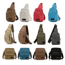 2016 NEW Mens sling bag chest bag leisure canvas mens bags bag cycling running gym bag Pack Multi fu