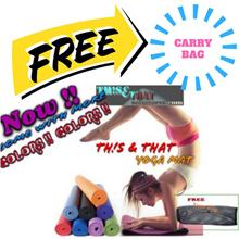 6mm Yoga Matt~~Anti-Slip With Carry Bag~~BEST DEAL