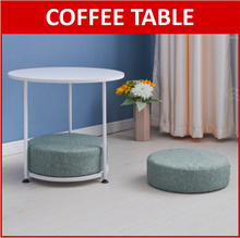 Compact Coffee Table with Two Cushion Seat Foam