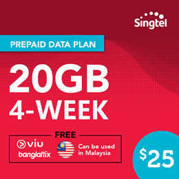 Singtel Data Package - 20GB (30 days)