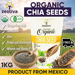 SALE★1+1+1 at 18.80★CERTIFIED ORGANIC CHIA SEED ★USDA JAPAN AGRI STD★