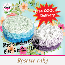 [BAKE A JOY]  ❤ Ombre Rosettes Cake ❤ 3 Different Cake Flavours Available! FREE DELIVERY!