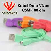 Vivan Data Cable CSM-100 Kabel Data Candy Micro USB 100cm for Mobile Phone   Kabel Charger Universal
