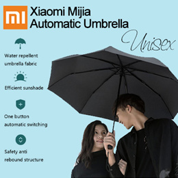 【BEST SELLER 】Xiaomi  Automatic Umbrella Sunny Rainy Bumbershoot Aluminum Windproof Waterproof UV Parasol