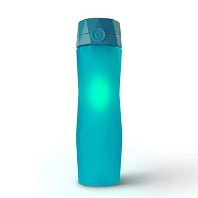 9a7dec96b7 Hidrate Spark 2.0 Smart Water Bottle (Teal) - Tracks Water Intake Glows to  Remind