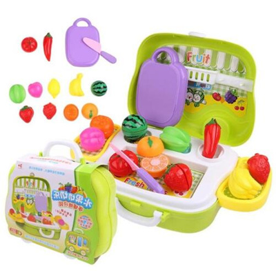 Kids Kitchen Plastic Fruit Vegetables Cutting Toy Early Development And Education Toy
