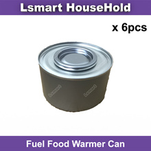Fuel Food Warmer Can★per 6pcs★Refill★Buffet★Chafing dishes★No smoke★Party★Clean burning★Cater★Burner