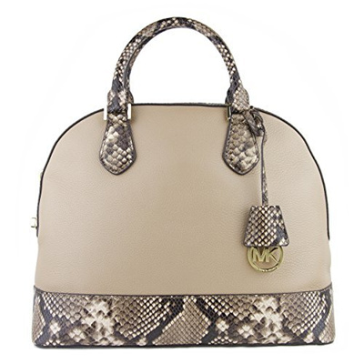 7562149df8a6 (Michael Kors) Michael Kors SMYTHE LARGE DOME SATCHEL DARK KHAKI-  Rating   0  Free  S 1