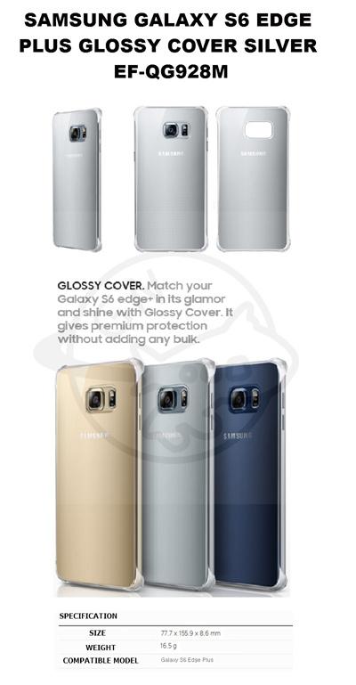 newest f7dc6 1792c Samsung Galaxy S6 Edge Plus Glossy Cover Silver EF-QG928M []