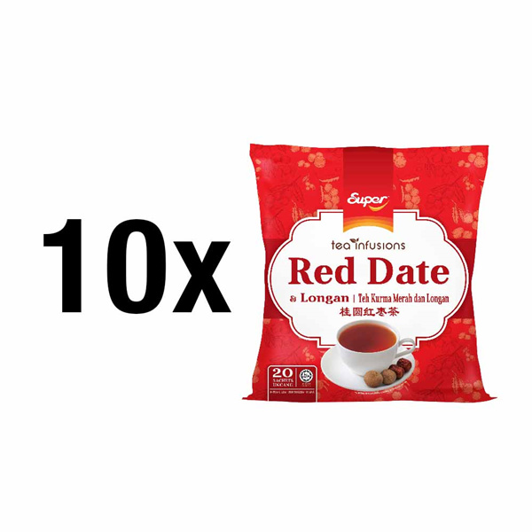 [BUNDLE OF 10] SUPER Red Dates Longan Tea Deals for only RM85.9 instead of RM118