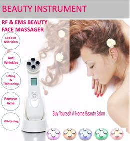 EMS LED RF Beauty Instrument Face Massager Treat Wrinkled Skin Enhance Collagen N Skin Elasticity