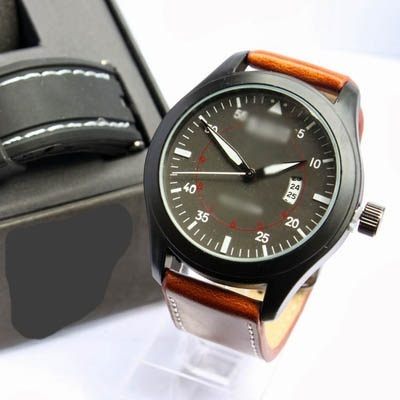 Qoo10 - JAM TANGAN PRIA CASUAL   SYNTHETIC LEATHER   WITH BOX   Jam ... ee8697cdbc