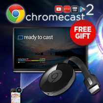 *Star Deal*Google Chromecast 2 Streaming Device (Gift+Coupon+Warranty+Free Shipping)