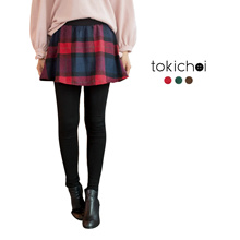 TOKICHOI - Checkered Skirt & Leggings Set-172804-Winter
