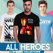 Fantasia T-Shirt Pria All Heroes Collections - Best Seller 2018 Ever!