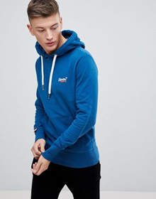 Superdry Orange Label Lite Hoodie In Blue