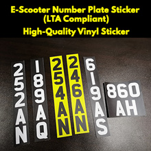 E-Scooter Number Plate Sticker (LTA Compliant)
