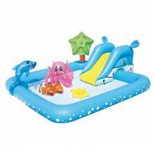 Bestway 53052 Inflatable Fantastic Aquarium Play Pool 2.39m x 2.06m x 86cm Fish Splash Play Paddling