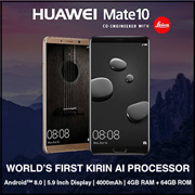 (Buy at RM1999 with RM300 coupon) Huawei Mate 10 [4GB RAM/64GB ROM] - Huawei Malaysia Warranty // FREE HUAWEI GIFT BOX