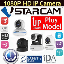 Authentic Vstarcam Wireless IP Camera Plus Models HD-FHD Night Vision Pan/Tilt CCTV Home Security
