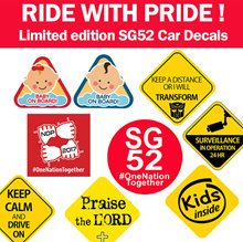 Car DECALS ♥ Decal SG52 ♥ Keep Calm P Plate Probationary CCTV Transformer Decals Car Motorcycle