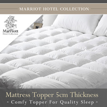 FIRST 30 SETS Marriott Hotel Collection Mattress Topper (Light weight for easy care)
