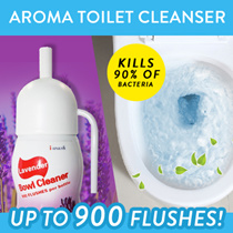 ★Automatic Aroma Toilet Cleanser★Clean And Fresh ★ 900 FLUSH ★DIY Installation ★ Ready Stock
