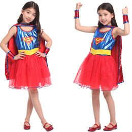 VASHEJIANG Newest Kids Superhero Wonder Woman Cosplay Costume for Halloween party  Superman Cosplay
