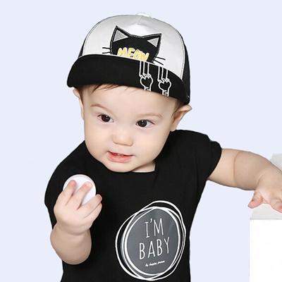 395c6d86a1a Spring Summer Baby Hat Kids Cute Cat Baseball Cap Palm Baby Boys Girls  Beanies Cotton Mesh