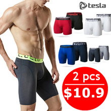[SPECIAL OFFER]★TESLA Mens Brief 2 in 1★ Underwear / Sports / inner wear / Mesh fabric