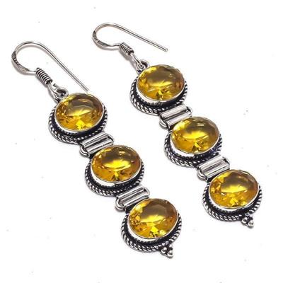 72b489b7531c4 Women Earring/ Tiffany Earrings / Fashion Jewelry/ Citrine Gemstone Ethnic  Jewel Earring [CIN]