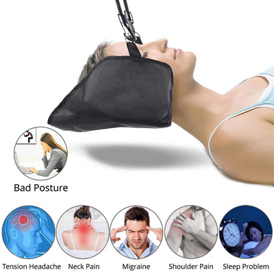 Neck Nerves Pressure Tension Headaches Pain Relief Massager Head Hammock  Traction