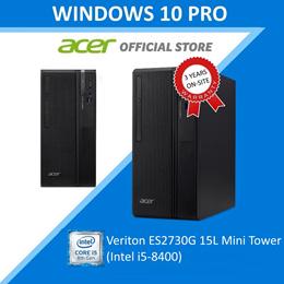 Acer Veriton ES2730G 15L Mini Tower (Core i5 8400) Business Desktop - Windows 10 Professional