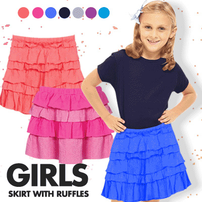 NEW COLLECTION / GIRLS JUNIOR SKORTS WITH RUFFLES / BEST SELLER / GOOD QUALITY Deals for only Rp49.000 instead of Rp49.000