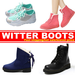 Women genuine leather Martin boots  flat shoes Women winter shoes snow boots business shoes