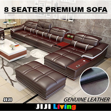 ★Eight Seater Premium Sofa ★Chasis Lounge ★L-Shape ★Storage ★First Grade ★Memory Foam