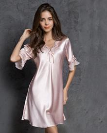 ecf741acba Quick View Window OpenWish. rate 2. Women Sleepping Silky Nightwear Elegant  Silky Slepping Dress Pyjamas Robe Gown Half Sleeves