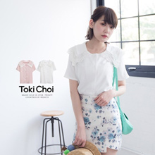 TOKICHOI - Crochet Padded Shoulder Blouse-6010510