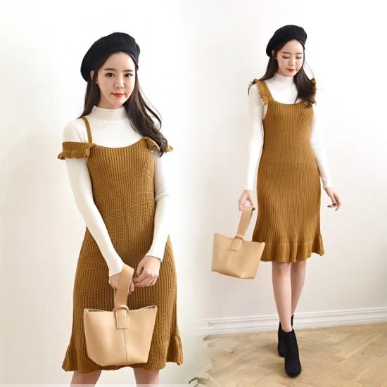 ハチミツデージュオニワンピースHN7F292OPC プリントのワンピース/ 韓国ファッション