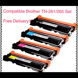(SG Sales!) Compatible Brother *BUNDLE* Printer Toner Cartridge TN261/265 (KCMY) *Bundle* !!