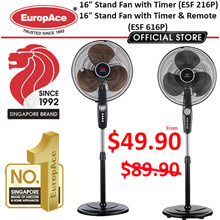 EuropAce 16 Inch Stand Fan With Timer (ESF 216P) / With Timer and remote (ESF 616P)