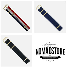 Nylon Nato Straps in Gold Buckle - 20 and 22mm (Free Local Postage)