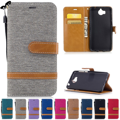 sports shoes c3090 f4899 Huawei Y6 2017 MYA-L11 MYA-L41 Y 6 2017 Case Phone Cover Denim Flip Case  Huawei Nova Young MYA L11